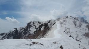 五竜岳への登山道