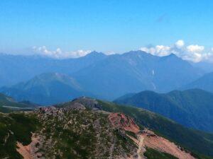 乗鞍岳から見る槍穂高連峰
